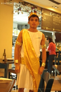 Waiter in Cyma in Costume