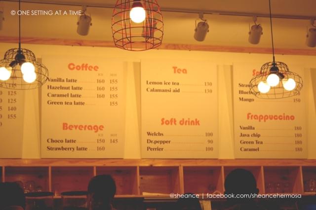 Cafe Noriter Menu