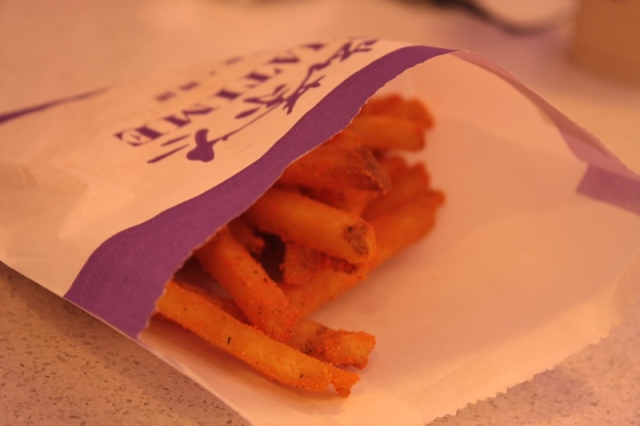 Chatime bites, french fries in cheddar cheese