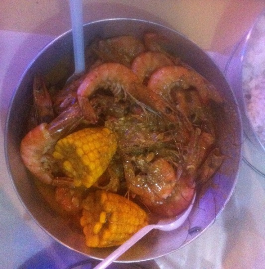 Boiled Shrimp in Gata, Bucket Shrimps Cebu