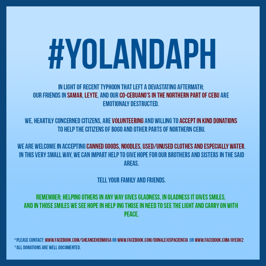 typhoon, yolanda, philippines, help,