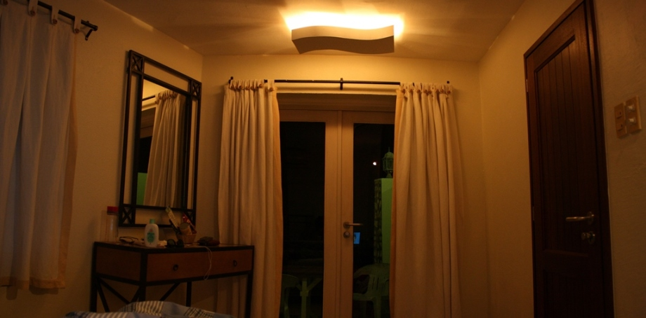 Our room in the evening