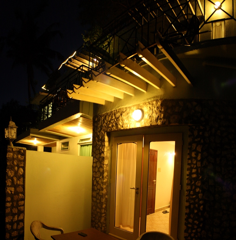 our veranda in the evening
