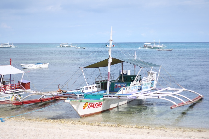 The boat you will ride on from Maya port to Malapascua Island